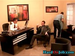 Hunky Homo Bro Gets Gay Tube Sucked At Office 1 By HardOnJob