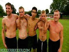 Real Footballers Balls Inspection