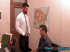 Exciting Buddy Getting His Crazy Gay Cock Sucked Off On Job 1 By HardOnJob
