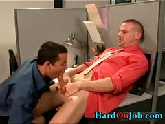 When The Boss Is Away These Guys Start Sucking Gay Cock 6 By HardOnJob