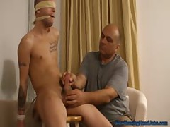 Blindfolded, Gagged, And Edged Clip