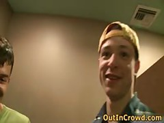 Homosexual Twinky Blows On The Street And Making Out On The Public Place Toilets 4 By OutInCrowd