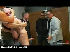 Bound Gay Dick Jerked Off And Sucked In Public Rest Room