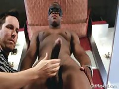 Black Hunk Gets His Massive Cock Stroked 2 By GotMasked