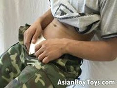 Naughty Asian Twink Jerking His Massive