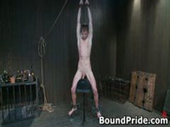 Nick Noman Plastic Wrapped And Gets His Hard Cock Jerked 10 By BoundPride