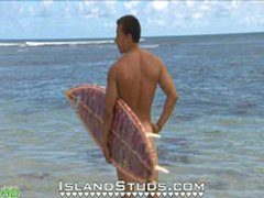 Naked Surfing In Hawaii!
