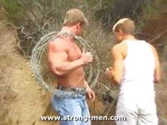 Bodybuilder Outdoors
