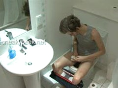 College Boy On Toilet