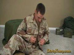 Soldier Gets A Handjob