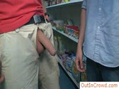 Dude Sucking Some Amazing Cock In Store By Outincrowd