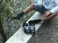 My Ex Bf In Black Puma Socks And Black AIRMAX