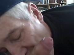 Horny Older  Sucks My Uncut Cock